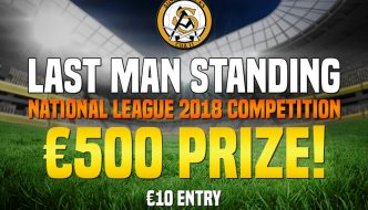 Last Man Standing 2018 National League Competition