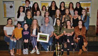 Senior Ladies Celebrate their Co. Championship Success